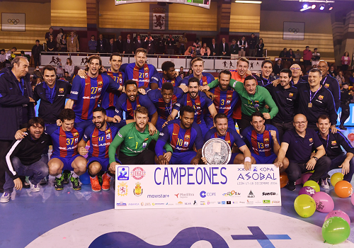 El FC. Barcelona Lassa mantiene su trono en la Copa ASOBAL